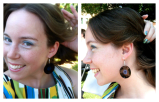 DIY Record Earrings {for that 70's Wedding}