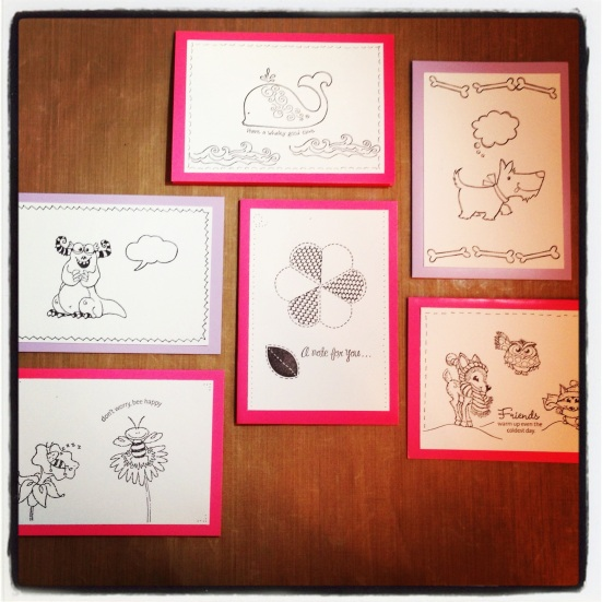 Ready to Colour Stamped Cards